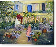 The Summer Garden Acrylic Print by Loretta Luglio