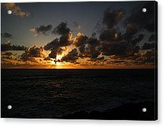 The Sun And Ocean Acrylic Print by Jeff Swan