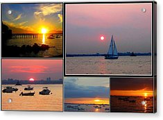 The Sunsets Of Long Island Acrylic Print by Dora Sofia Caputo Photographic Art and Design