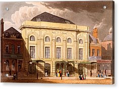 The Surrey Theatre, London, 1826 Acrylic Print by Daniel Havell