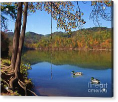 The Swimming Hole Acrylic Print by Lena Auxier