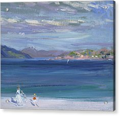 The Tail Of Mull From Iona Acrylic Print by Francis Campbell Boileau Cadell