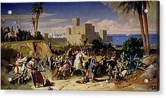 The Taking Of Beirut By The Crusaders Acrylic Print by Alexandre Jean Baptiste Hesse