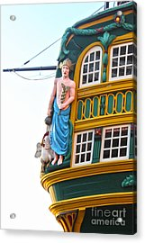 The Tall Clipper Ship Stad Amsterdam - Sailing Ship  - 02 Acrylic Print by Gregory Dyer