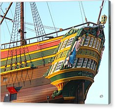 The Tall Clipper Ship Stad Amsterdam - Sailing Ship  - 08 Acrylic Print by Gregory Dyer