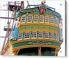 The Tall Clipper Ship Stad Amsterdam - Sailing Ship  - 09 Acrylic Print by Gregory Dyer