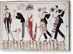 The Tango Acrylic Print by Georges Barbier