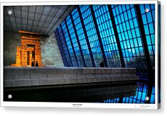 The Temple Of Dendur Acrylic Print by Lar Matre