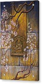 The Temple's Wall Acrylic Print by Vrindavan Das