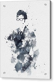 The Tenth Doctor Acrylic Print by Rebecca Jenkins