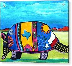 The Texas Armadillo Acrylic Print by Patti Schermerhorn