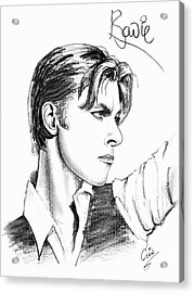 The Thin White Duke Acrylic Print by Cristophers Dream Artistry