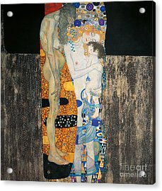 The Three Ages Of Woman Acrylic Print by Gustav Klimt