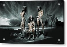 The Three Graces Acrylic Print by George Grie