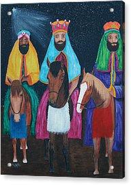 The Three Kings Acrylic Print by Gloria E Barreto-Rodriguez