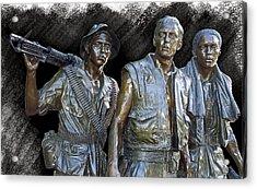 The Three Warriors Of Vietnam Acrylic Print by Daniel Hagerman