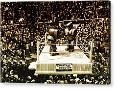 The Thrilla In Toyvilla Acrylic Print by Bill Cannon