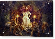 The Tiger Temple Acrylic Print by Cassiopeia Art