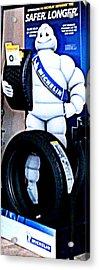 The Tire Man Acrylic Print by Pamela Hyde Wilson