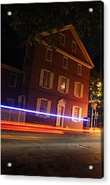 The Todd House Philadelphia Acrylic Print by Christopher Woods