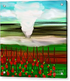 The Tomatoes And The Tornado Acrylic Print by Andee Design