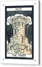 The Tower Acrylic Print by Nora Blansett