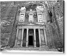 The Treasury At Petra Acrylic Print by Stephen Stookey