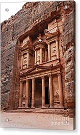 The Treasury In Petra Jordan Acrylic Print by Robert Preston