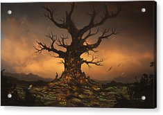 The Tree Acrylic Print by Cassiopeia Art