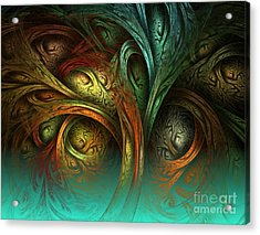 The Tree Of Life Acrylic Print by Sandra Bauser Digital Art