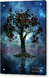 The Tree That Wept A Lake Of Tears Acrylic Print by John Edwards