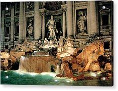 The Trevi Fountain Acrylic Print by Warren Home Decor