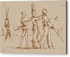The Triplets Of Ruen Acrylic Print by H James Hoff