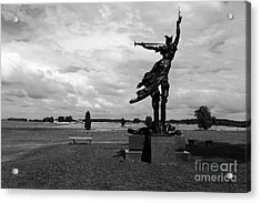 The Trumpet Sounds At Gettysburg Acrylic Print by James Brunker