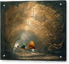 The Tunnel, From Coloured View Acrylic Print by Thomas Talbot Bury