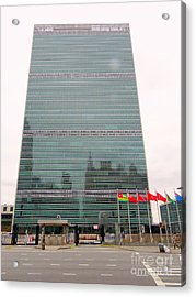 The United Nations Acrylic Print by Ed Weidman