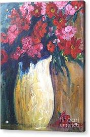 The Vase Acrylic Print by Sherry Harradence