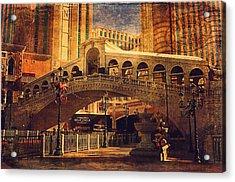 The Venetian  Acrylic Print by Maria Angelica Maira
