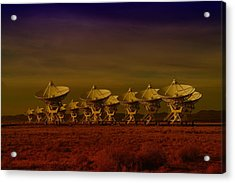The Very Large Array In New Mexico Acrylic Print by Jeff Swan