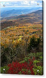 The View From Grandfather Mountain Acrylic Print by Andres Leon