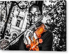 The Violinist  Acrylic Print by Steven  Taylor