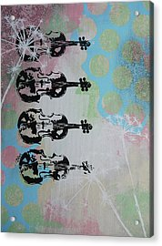 The Violins Acrylic Print by Bitten Kari