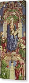 The Virgin And Child Enthroned Acrylic Print by Cosimo Tura