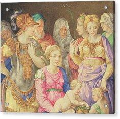 The Virgin And Child Acrylic Print by Giorgio Giulio Clovio