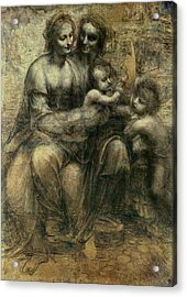 The Virgin And Child  Acrylic Print by Celestial Images