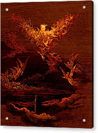 The Vision Of The Sixth Heaven Acrylic Print by Gustave Dore