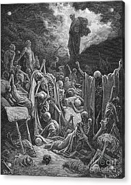The Vision Of The Valley Of Dry Bones Acrylic Print by Gustave Dore