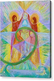 The Visitation Acrylic Print by Anne Cameron Cutri