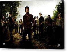 The Walking Dead Acrylic Print by Gabriel T Toro