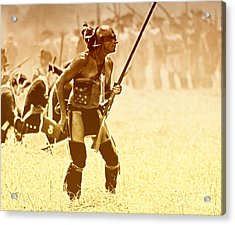 The Warrior Acrylic Print by Jim Cook